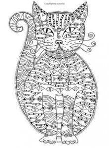 А4 кошка раскраска для малышей