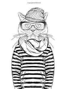 А4 кошка раскраска