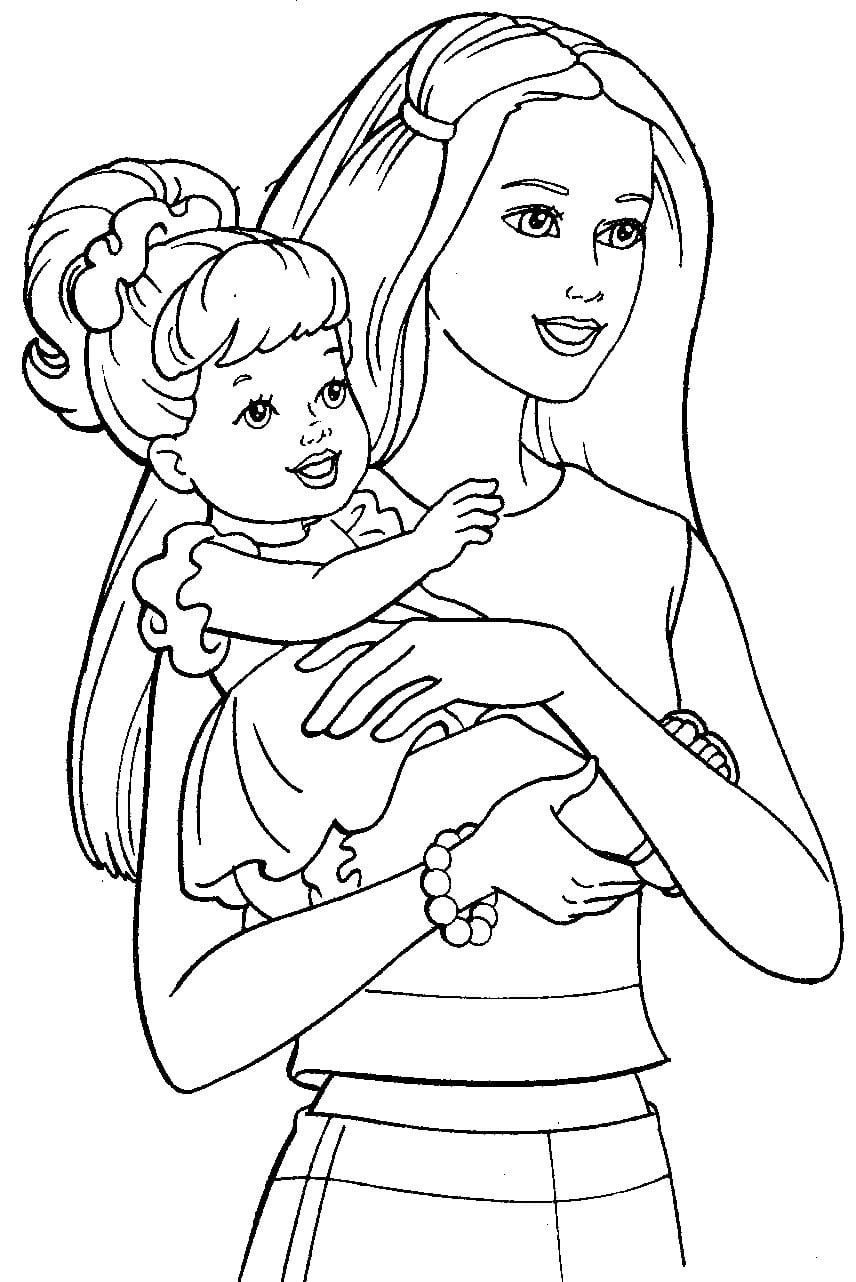 Раскраски на тему день матери распечатать