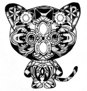 А4 раскрашивать раскраски кошек