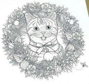 А4 раскраска антистресс мир кошек