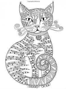 А4 раскраска антистресс распечатать   кошки
