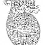 А4 раскраска для девочек животные кошки