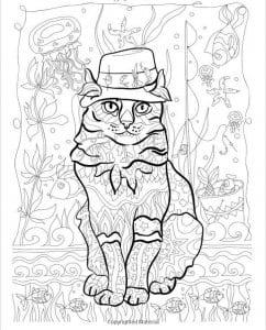 А4 раскраска кошка для детей 2 3 лет