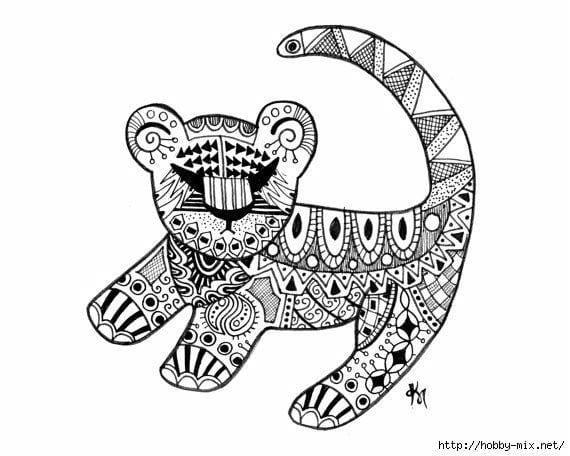 А4 раскраска кошки маленькие - Рисовака