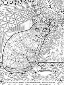А4 раскраска про кошек распечатать