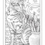 А4 раскраски 3 года кошки
