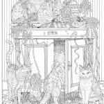 А4 раскраски антистресс кошка в хорошем качестве