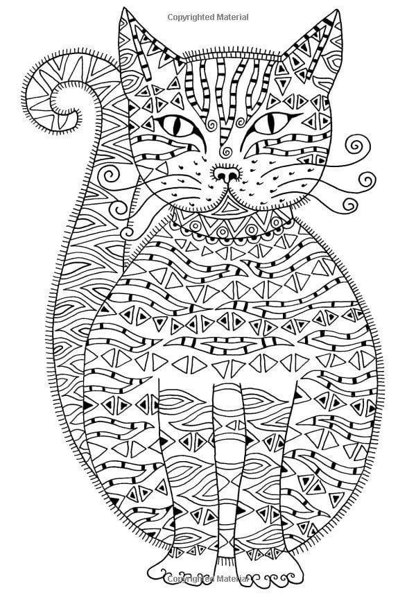 а4 раскраски антистресс кошки рисовака