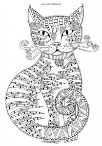 А4 раскраски антистресс коты и кошки