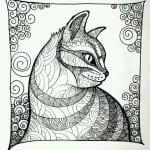 А4 раскраски детей 3 4 лет кошка
