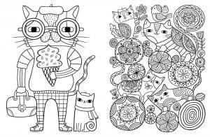 А4 раскраски для детей кошки распечатать бесплатно