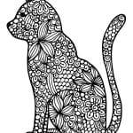 А4 раскраски для девочек антистресс кошки