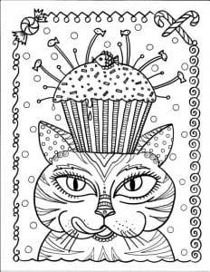 А4 раскраски для девочек кошки