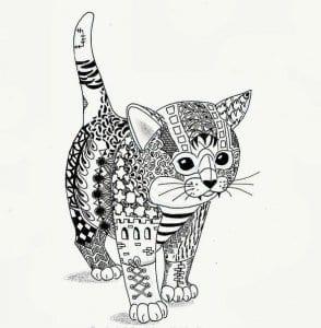 А4 раскраски для девочек кошки котята бесплатно