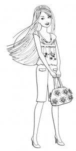 А4 раскраски для девочек супер барби
