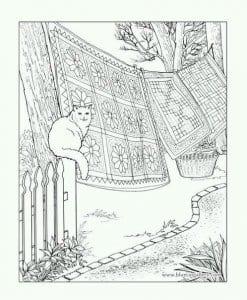 А4 раскраски для взрослых кошки