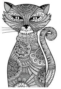 А4 раскраски кошек бесплатно