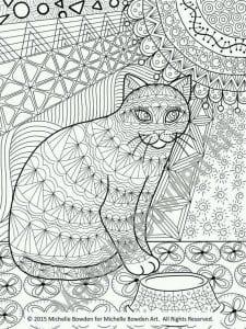 А4 раскраски кошки онлайн бесплатно