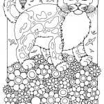 А4 раскраски кошки печать