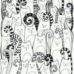 А4 раскраски кошки распечатать бесплатно формат