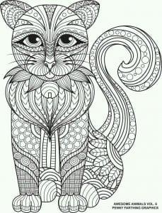 А4 раскраски милые кошки