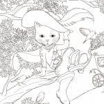 А4 раскраски онлайн детей кошки