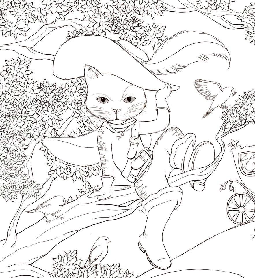 А4 раскраски онлайн детей кошки - Рисовака