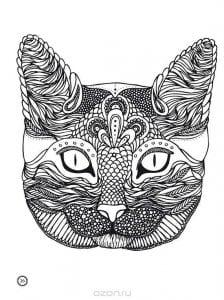 А4 раскраски распечатать животные кошки