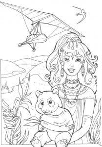 А4 распечатать раскраски для девочек барби супер принцесса