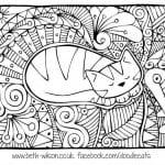 А4 скачать раскраску кошки