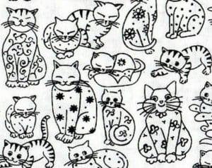 А4 скачать раскраску про кошек как настоящие кошки
