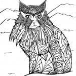 А4 животные кошки раскраски