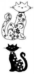 антистресс для детей кошки раскраска