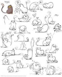 антистресс кошка в хорошем качестве раскраски