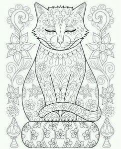 антистресс распечатать   кошки раскраска