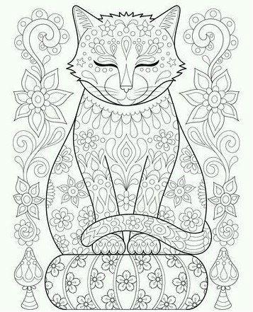 антистресс распечатать кошки раскраска - Рисовака
