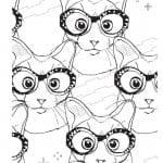 антистрессовые раскраски кошки А4