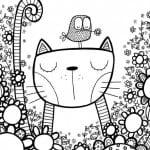 арт раскраски кошки