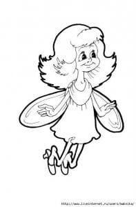 бесплатно баба яга раскраска для девочек