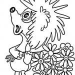 бесплатно и медвежонка раскраска про ежика