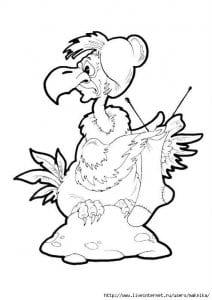 бесплатно картинки раскраски баба яга