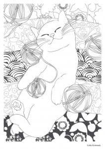 беспризорная кошка картинки раскраски А4
