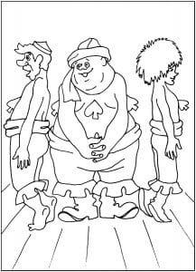 бременские музыканты мультфильм раскраска