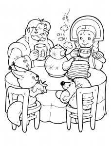 Дед Мороз и Снегурочка раскраска (2)