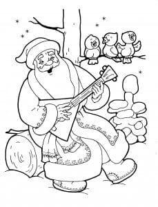 Дед Мороз и Снегурочка раскраска (6)