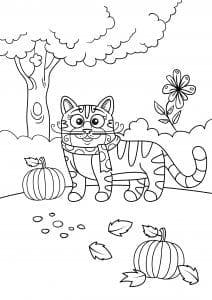 детей кошки распечатать бесплатно раскраски для