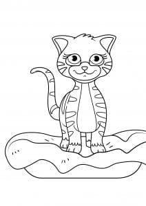 девочек антистресс кошки раскраски для
