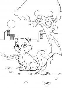 девочек кошки и котята раскраски для