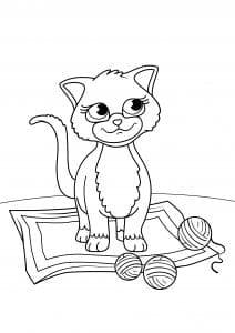 девочек кошки котята бесплатно раскраски для